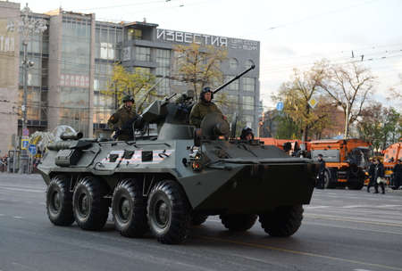 wheeled: The BTR-82 is an 8x8 wheeled amphibious armoured personnel carrier (APC).