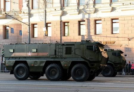 ambush: Mine-Resistant Ambush Protected (MRAP) armored vehicles Typhoon-K.