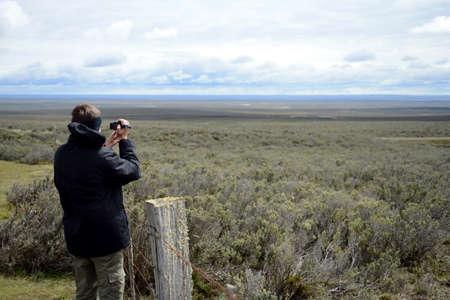 tierra del fuego: Tourist in Tierra del Fuego