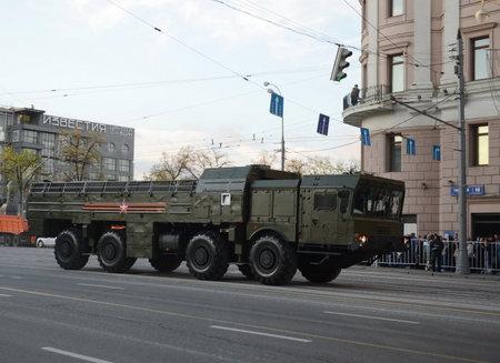operative system: The 9K720 Iskander is a mobile short-range ballistic missile system.
