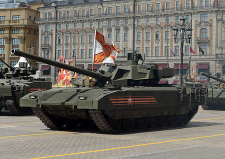 battle tank: The T-14 Armata is a Russian advanced next generation main battle tank based on the Armata Universal Combat Platform