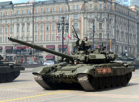 tracked: The T-90A is a third-generation Russian main battle tank.