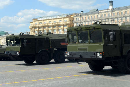 an operative: The 9K720 Iskander (NATO reporting name SS-26 Stone) is a mobile short-range ballistic missile system