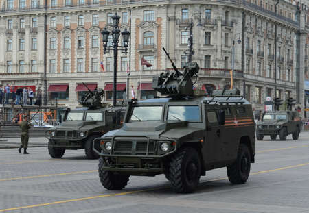 armored car: The armored car Tiger-M with the combat module with remote control (BMDO) Crossbow-DM