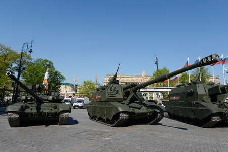 a rehearsal: Rehearsal celebration of the 71th anniversary of the Victory Day Editorial