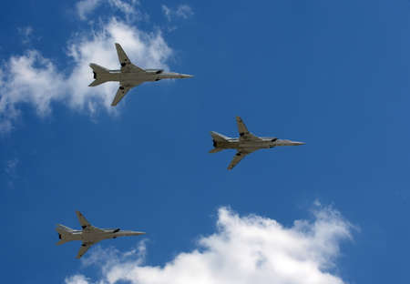 variable: Group of supersonic long-range strategic bombers Tu-22M3, with variable geometry wings Editorial