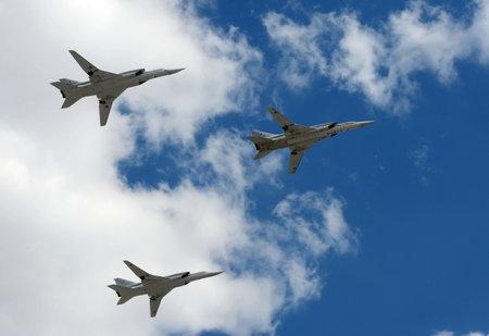 supersonic: Group of supersonic long-range strategic bombers Tu-22M3