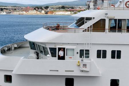 Passenger ship in the port of Punta arenas.