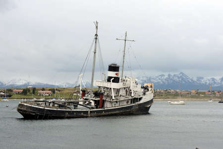 grounded: Steam tug Saint Christopher Grounded in the Beagle Channel. Editorial