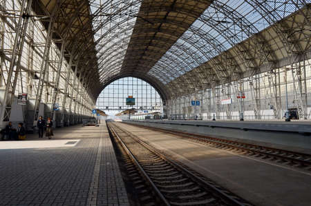 landing stage: Landing stage of the Kiev railway station. Editorial