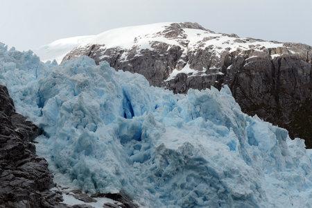 Nena Glacier in the archipelago of Tierra del Fuego. Editorial