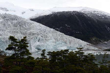 tierra: Pia glacier on the archipelago of Tierra del Fuego.