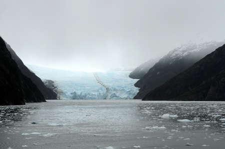 The Garibaldi glacier on the archipelago of Tierra del Fuego. Stock Photo