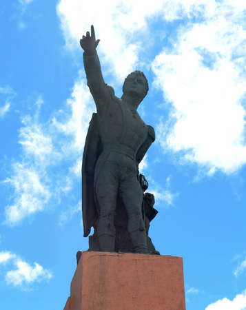 The monument to the national hero of Chile, Bernardo Ohiggins to Punta arenas.