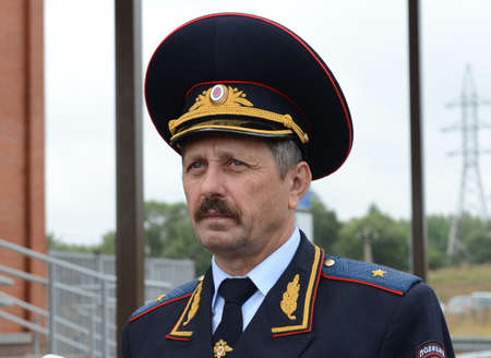 the traffic movement police: Deputy Head of the Main Department of Road Safety Ministry of Internal Affairs of the Russian Federation, Major General of Police Vladimir Kuzin.