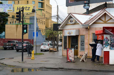magallanes: On the street of Punta Arenas. Editorial