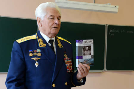 Distinguished Soviet military pilot, Colonel-General Nikolai Moskvitelev. Editorial
