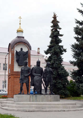 Yelets - the ancient city in Russia, the administrative center of Yelets district of Lipetsk region.A monument in honor of the 850th anniversary of the city. Editorial
