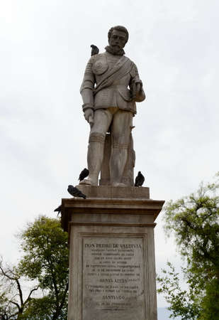 Monument of don Pedro de Valdivia in Santiago.