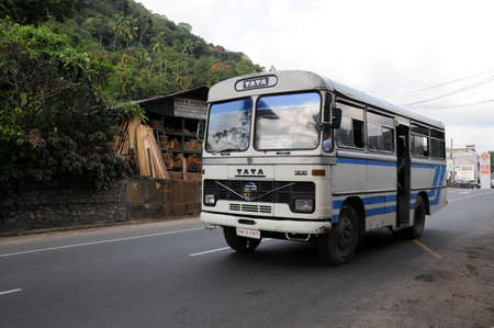 kandy: The public bus to Kandy.