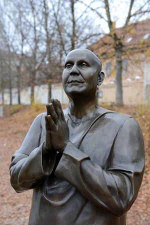 The statue of Harmony or sculpture Praying (Socha Harmonie) erected in honor of the famous Indian philosopher-humanist, a preacher of Sri Chinmoy.