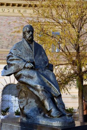 The monument to the composer bedÅ™ich Smetana on Smetana embankment. Editorial
