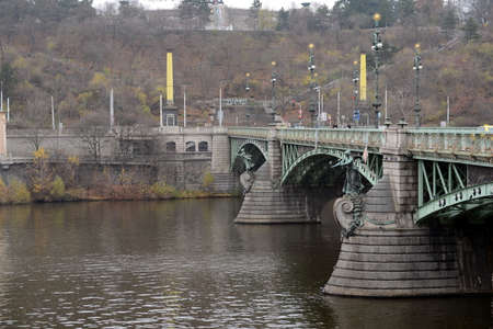 engel: Chekhov bridge on the Vltava river.