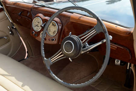 soft pedal: Old English car Triumph 1800 Roadster. Editorial