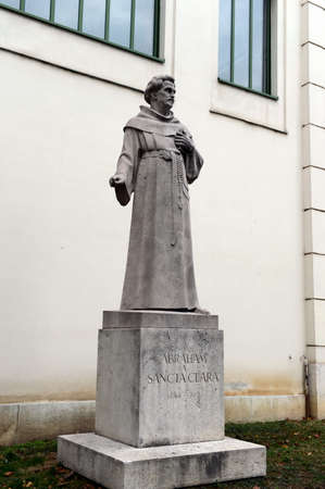 A monument to Abraham a Santa Clara, a famous preacher, satirist and writer, is located in the of Vienna - in the Burggarten, near the walls of the Imperial Palace. Editorial