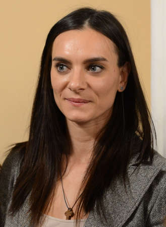 honored: Yelena Isinbayeva - two-time Olympic champion, winner of 28 world records in pole vaults among women. At the ceremony of awarding the winners of the warm heart.