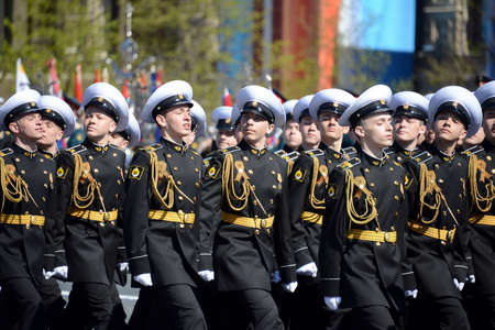 The students of the Nakhimov naval school