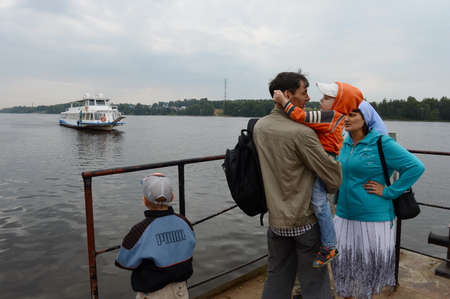 Passenger ship on the Volga River. Editorial