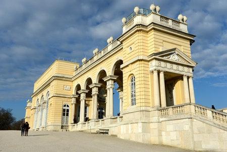 Gloriette in Schonbrunn Palace Garden in Vienna, Austria is built in 1775 as a temple of renown