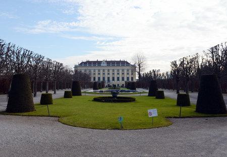 schoenbrunn: The Park of Schönbrunn Palace in Vienna.