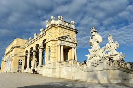 gloriette: Gloriette in Schonbrunn Palace Garden in Vienna, Austria is built in 1775 as a temple of renown.