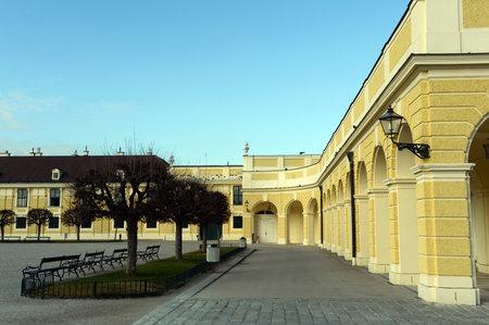 schoenbrunn: Schonbrunn Palace in Vienna, Austria. Schonbrunn Palace is one of the most popular tourist attractions in Vienna. Editorial