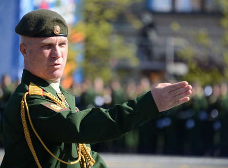 Chief of the Moscow Higher Military Command School of the Ministry of Defense of Russia, Major-General Alexander Novkin