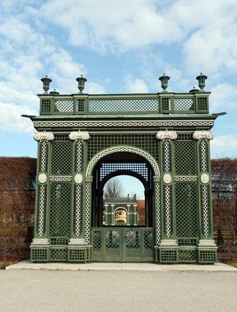 schoenbrunn: The green gate in the garden of schönbrunn, Vienna
