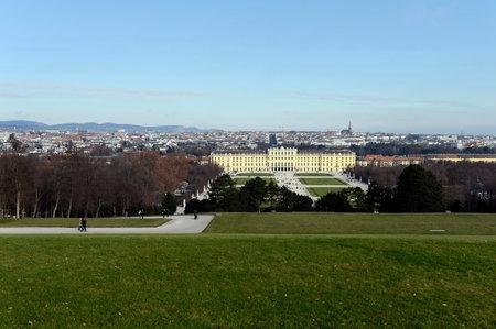 schloss schoenbrunn: Schonbrunn Palace in Vienna, Austria. Schonbrunn Palace is one of the most popular tourist attractions in Vienna. Editorial
