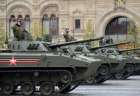 tracked: Celebration of the 72nd anniversary of the Victory Day (WWII). The BMD-4M - Combat Vehicle of the Airborne is an amphibious infantry fighting vehicle (IFV)