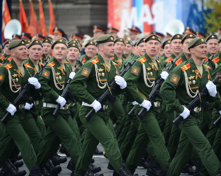 Cadets of the military academy of logistics of the army General AV khruleva on the parade dedicated to the Victory Day. Editorial