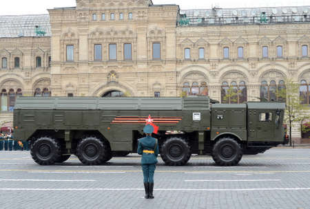 operative system: Celebration of the 72nd anniversary of the Victory Day (WWII). The 9K720 Iskander (NATO reporting name SS-26 Stone) is a mobile short-range ballistic missile system. Editorial