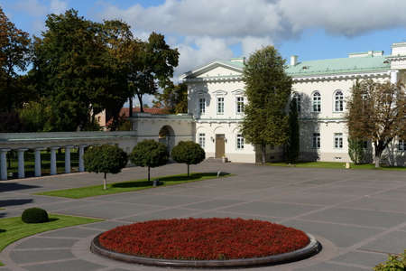 presidential: The Courtyard of the Presidential Palace in Vilnius.