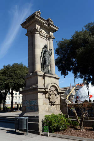 Rzeźba, posąg Emporion, Plaça de Catalunya, Barcelona, ??Katalonia, Hiszpania