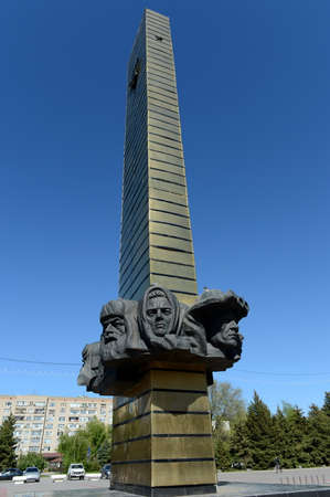 Monument Glory to the heroes of the front and rear on Victory Square in Volgodonsk. Editorial