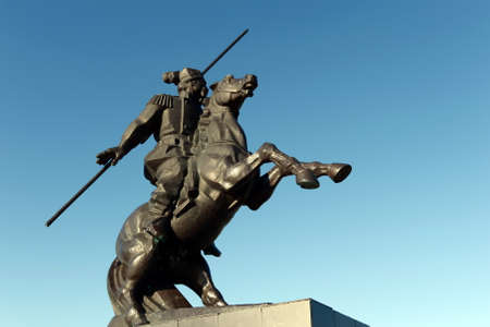 petrovich: Monument to Yakov Baklanov, the Russian general, the hero of the Caucasian War on the embankment of the Gulf of Tsimlyansk Sea in Volgodonsk.
