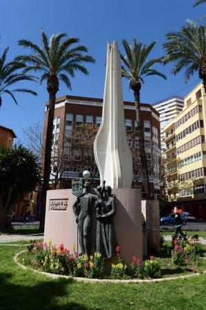 Monument to Al Fogerer. Alicante
