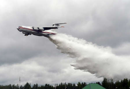 ministry: Fire-fighting aircraft. IL-76TD. Russia. International Salon Integrated Security-2017. Editorial