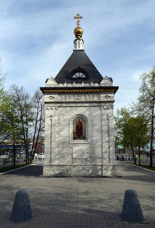 Chapel of Alexander Nevsky on Lenin Avenue in Barnaul.