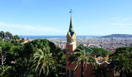 The Gaudí house-museum in the Park Guell of Barcelona.